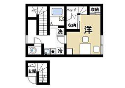 レオパレス南阪手II[2階]の間取り