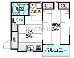 イーストサイド江坂[3階]の間取り