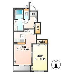 (仮称)日立市田尻町新築アパート[105号室]の間取り