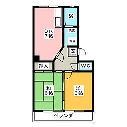 ヒルズハイム153[3階]の間取り