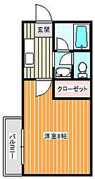 アベニュー中加賀屋[1階]の間取り
