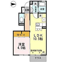 東京都西東京市南町5丁目の賃貸アパートの間取り