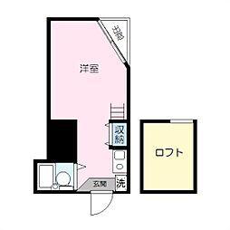 パレス蒔田III[101号室]の間取り