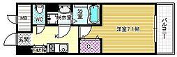 シェモア藤井寺駅前 7階1Kの間取り