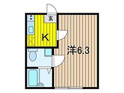 ルミナス浦和[3階]の間取り