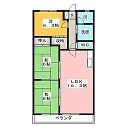 コーポモリタIII[7階]の間取り