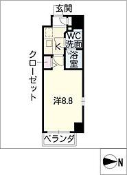 エステムプラザ名古屋・栄プレミアム[12階]の間取り