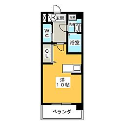 エクセルコート櫻[1階]の間取り
