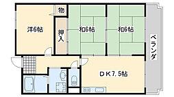 エクセル赤松[703号室]の間取り