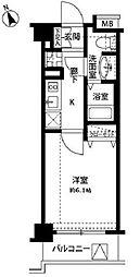 東京都品川区二葉4丁目の賃貸マンションの間取り