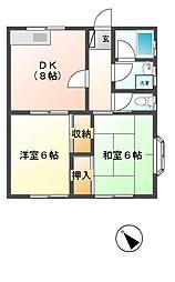 ハイムウイステリア[1階]の間取り