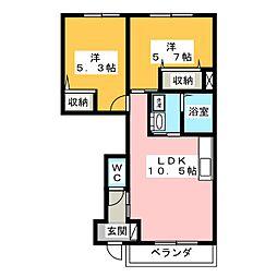 プリオール[1階]の間取り