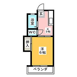 コーポサクマ[2階]の間取り