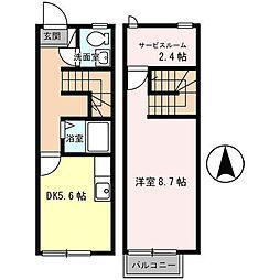 ビューテラス東人丸[1階]の間取り
