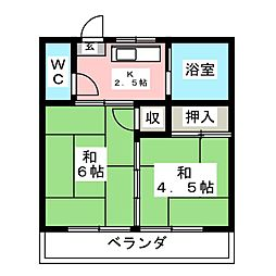 小澤第一アパート[2階]の間取り