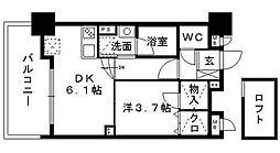 HF平尾レジデンス[15階]の間取り