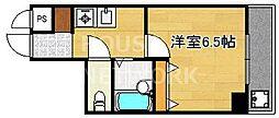 サンハイツ伯楽[603号室号室]の間取り