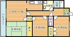 山内シャルム黒崎南(分譲賃貸)[1階]の間取り