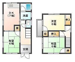 [一戸建] 広島県福山市新涯町4丁目 の賃貸【/】の間取り