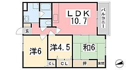 京口ハイツ[402号室]の間取り