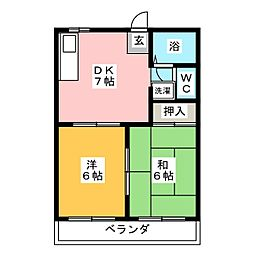 レジデンスIT'1[1階]の間取り