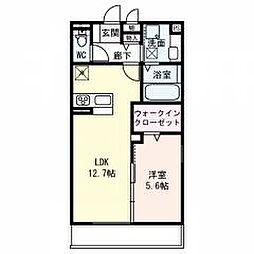 仮称)東淀川区山本ハイツ 2階1LDKの間取り