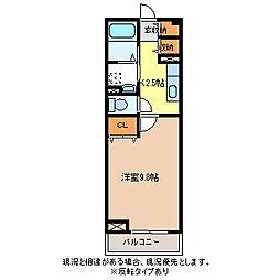 JR信越本線 長野駅 バス11分 上千田下車 徒歩3分の賃貸アパート 2階1Kの間取り