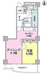 都営三田線 千石駅 徒歩5分の賃貸マンション 11階1LDKの間取り