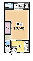 太陽マンション[1階]の間取り
