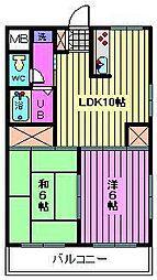 第7岡昭マンション[3階]の間取り