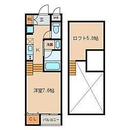 Residencia[2階]の間取り