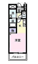 埼玉県所沢市西住吉の賃貸アパートの間取り