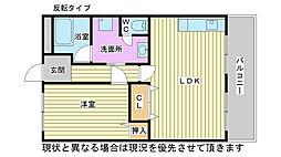 兵庫県加古川市平岡町土山の賃貸マンションの間取り