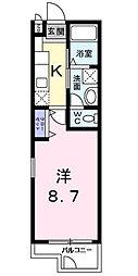 ウィステリア西横浜[1階]の間取り