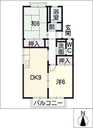プレジール都築[2階]の間取り