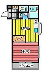 ラピュタマンション[2階]の間取り