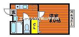 JR赤穂線 西大寺駅 徒歩7分の賃貸アパート 1階1Kの間取り