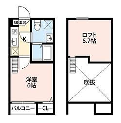 CRASTINE新百合ヶ丘[1階]の間取り