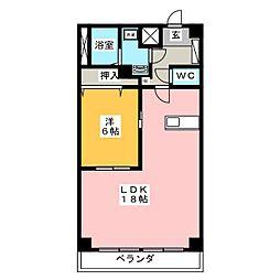 メゾン千秀[7階]の間取り