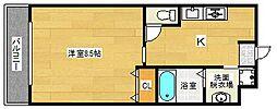 大阪府大阪市西成区天下茶屋東1丁目の賃貸マンションの間取り