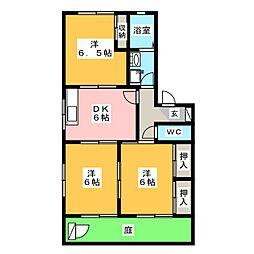 クレール杉本[1階]の間取り