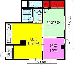 NSハイツ鴻池[2階]の間取り