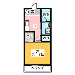 イーストフォート[8階]の間取り