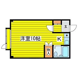 北海道札幌市東区北十九条東9丁目の賃貸マンションの間取り