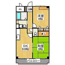 大阪府堺市東区菩提町1丁の賃貸マンションの間取り