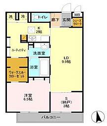 AIRY  HILLS  D[3階]の間取り