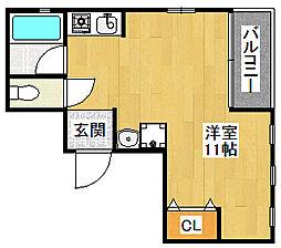 クレール二見[3階]の間取り