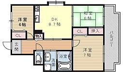 ガーデンハウス石山寺[100号室号室]の間取り