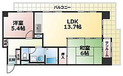 ジークレフ赤坂[4階]の間取り