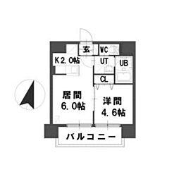 北海道札幌市中央区南四条西21の賃貸マンションの間取り